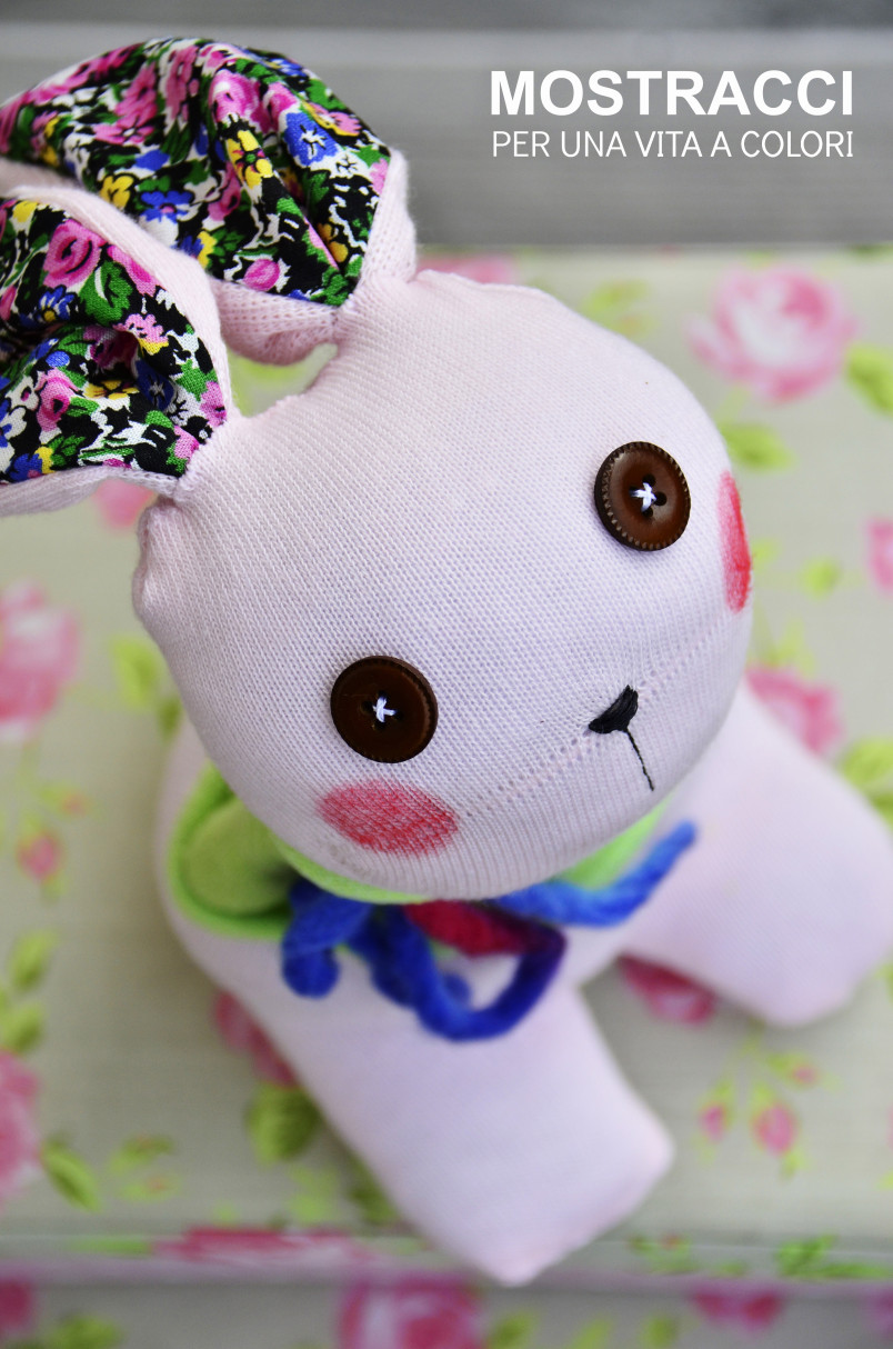 Make A Stuffed Easter Bunny From Old Socks