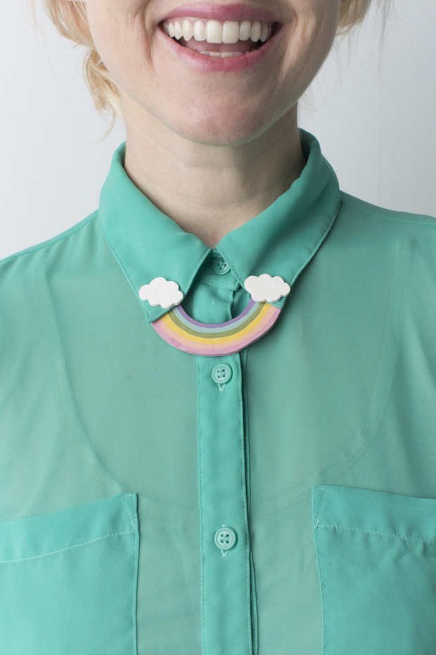 Craft Some Luck: DIY Rainbow Collar Pin