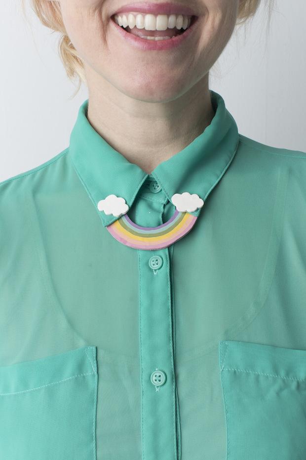 Craft Some Luck Diy Rainbow Collar Pin Make