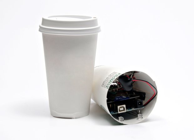 Coffee Cup Spy Cam Build a stealthy and sleuthy tilt-triggered camera.