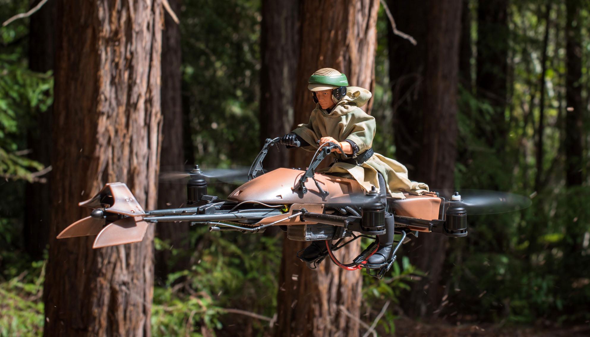 Skywalker vs. Stormtrooper: Endor Speeder Bike Quadcopter Battle