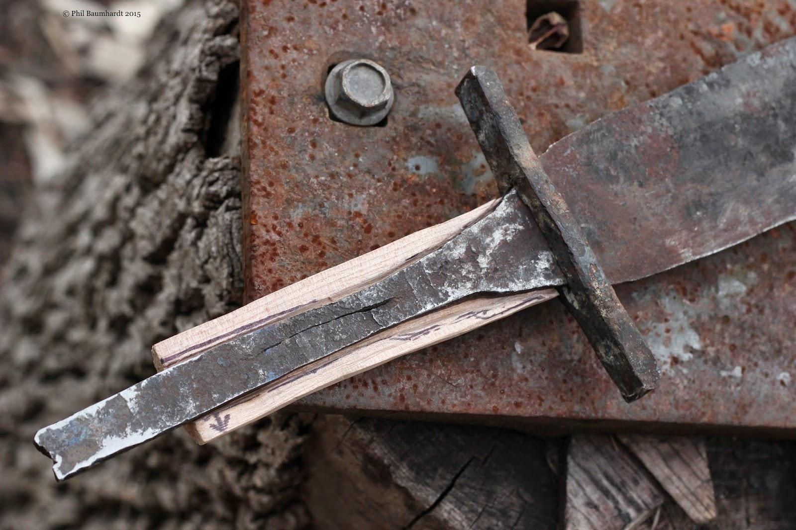 Backyard Blacksmith Forges Viking Sword From Vehicle Parts