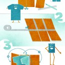 1+2+3 Clothes Folding Board
