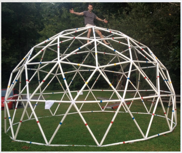 A Quick Collection Of Images Of Geodesic Domes: Build A PVC 20-Foot Functional Geodesic Dome