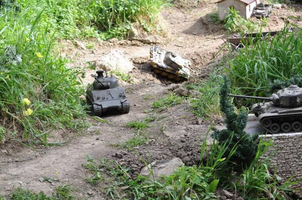 Remote control tanks at large.