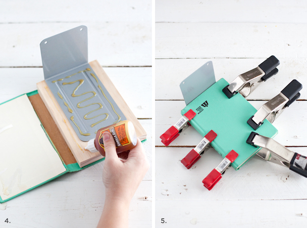 Stealthy Storage: DIY Invisible Bookends