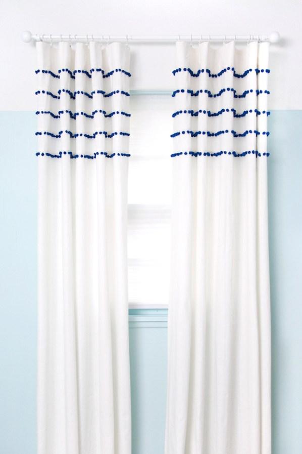 Windows Dressed to Impress: Pleated Pom-Pom Curtains