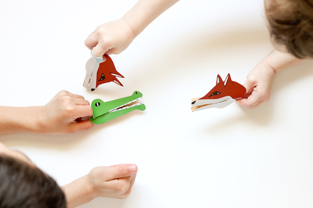 DIY Toys: Clothespin Animal Puppets