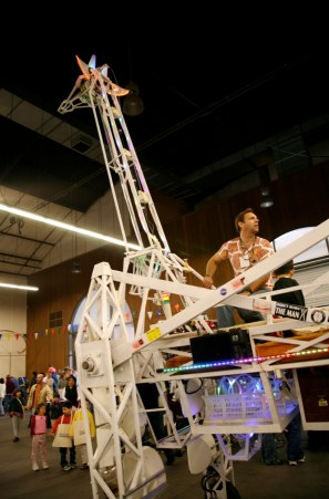 Russell, the Electric Giraffe, made his first appearance at MFBA 2006 and has become a Maker Faire icon. He even got to appear at the White House Mini Maker Faire and meet the President.