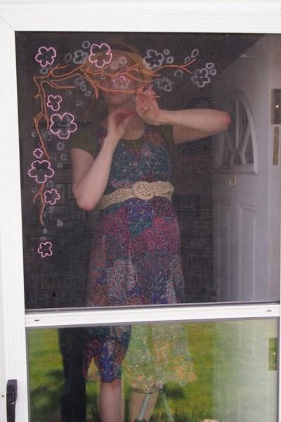 embroidering screen door