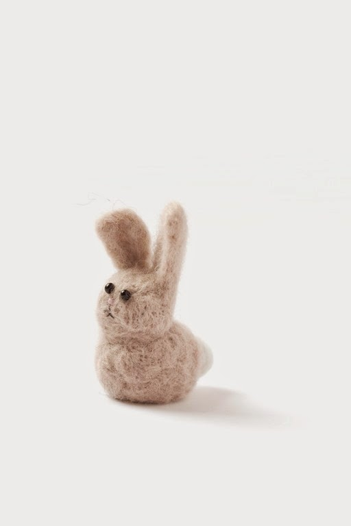 Fiber Fun: Needle Felted Bunny Rabbit