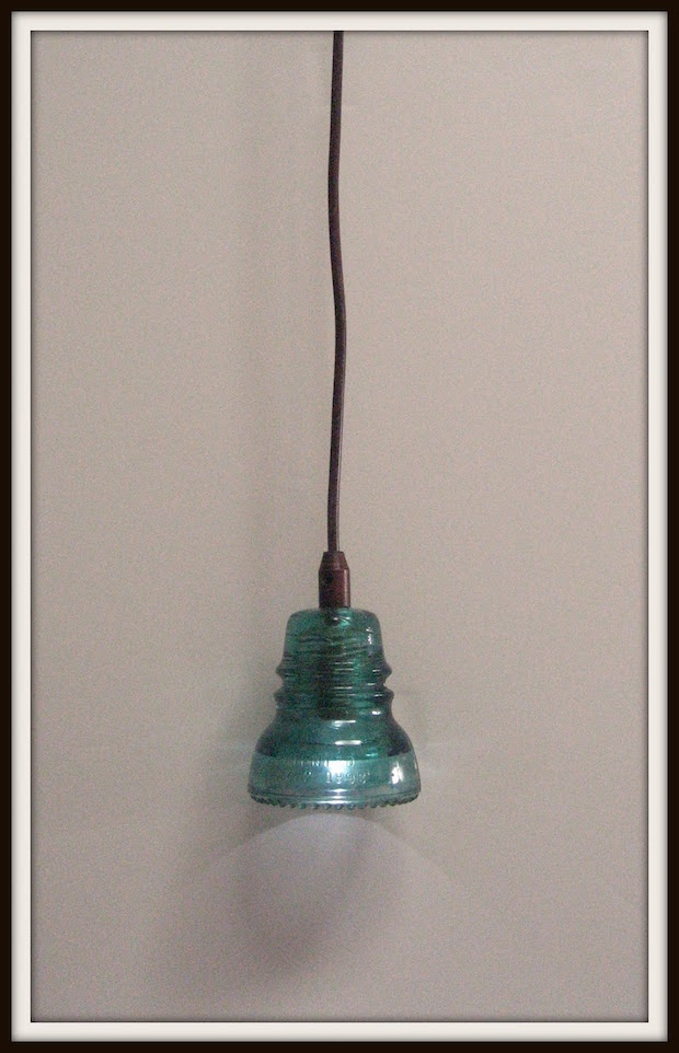 Light It Up: Make a Glass Insulator Pendant Lamp