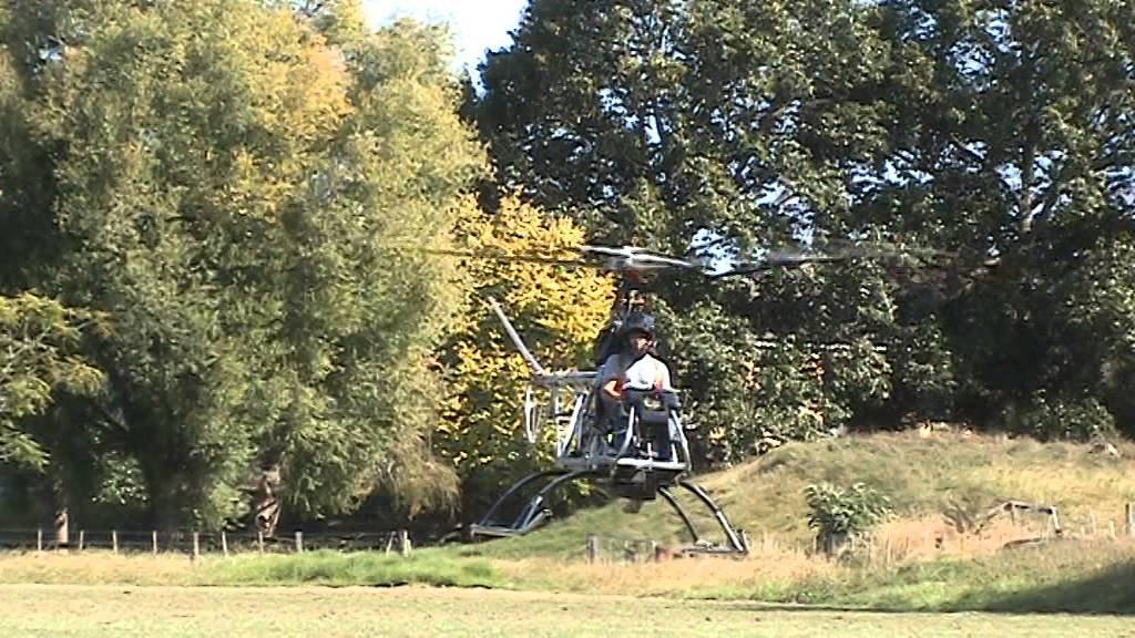New Zealander Builds Working Helicopter from Scratch
