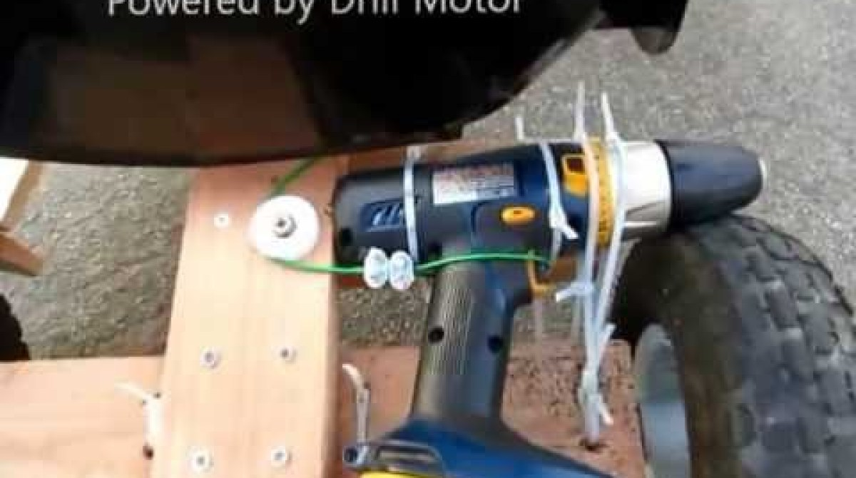 Electric Drill Provides Power For This Kid-Friendly Go-Kart