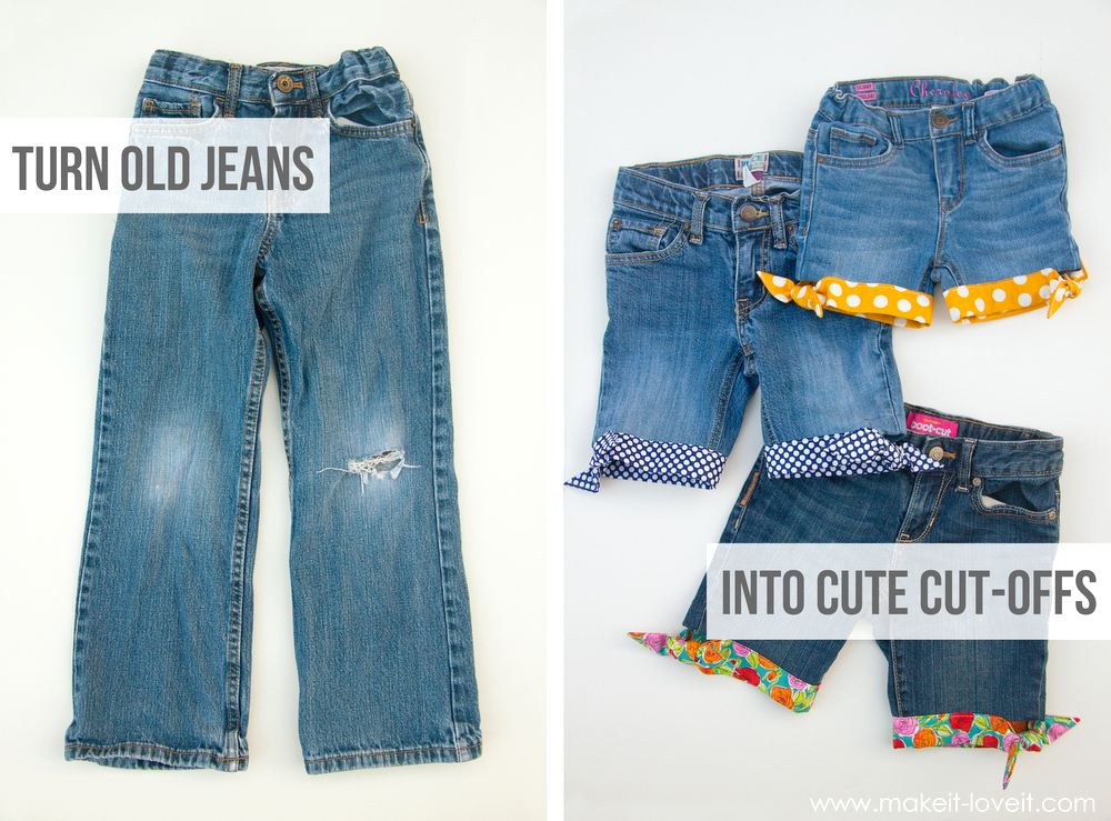 Summer Style: Cut-Off Jean Shorts with a Cute Knotted Fabric Hem ...