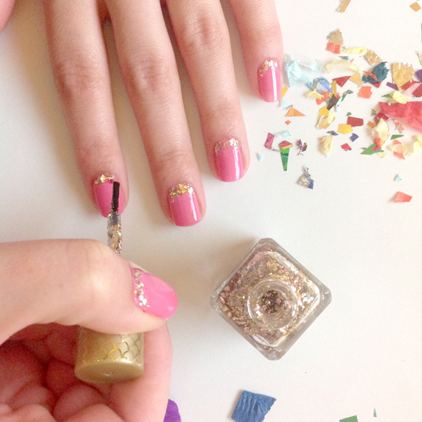 Sparkle and Shine: DIY Confetti Nail Art