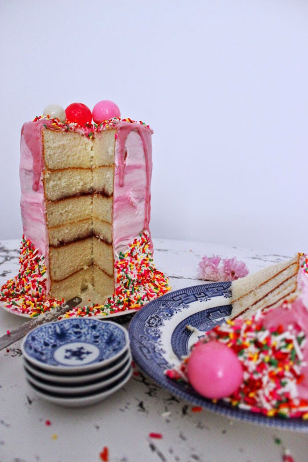 Recipe: Ridiculously Tall Raspberry-Glazed Bubble Cake