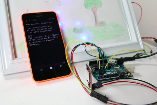 Windows Remote Arduino running a weather station (via Arduino)