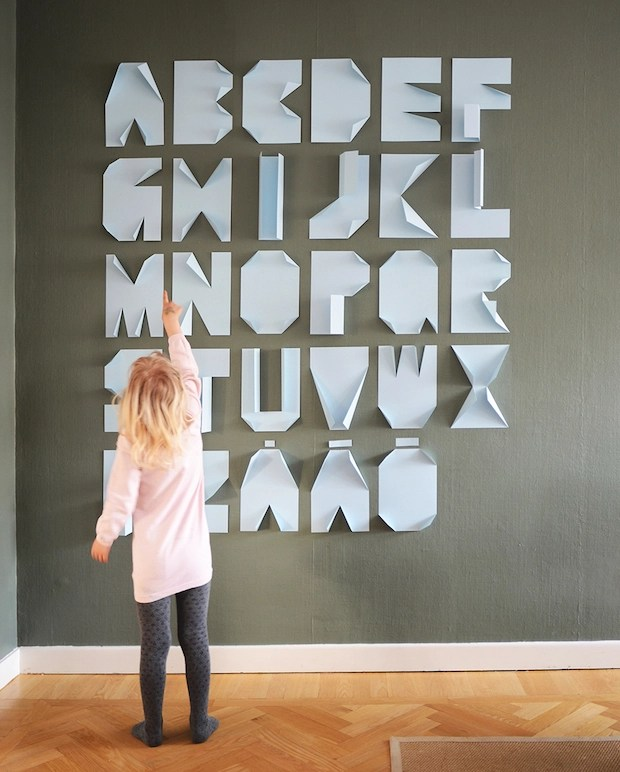 Alphabet Art: Folded Paper Letters