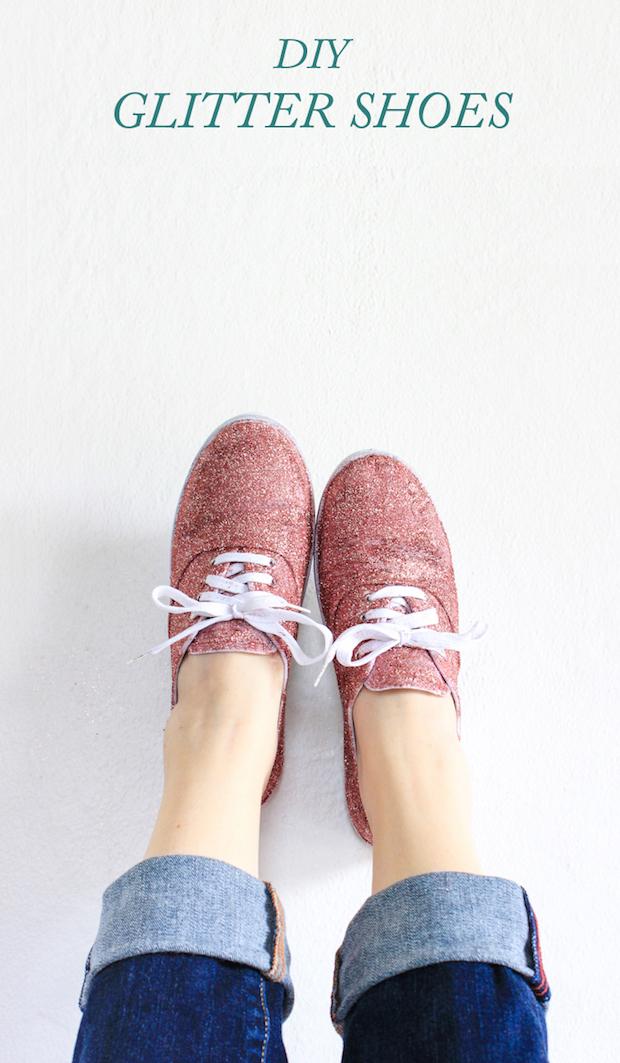 Spring Bling: DIY Glitter Shoes