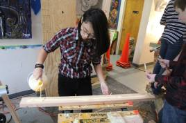 We used over 4 gallons of wood glue!