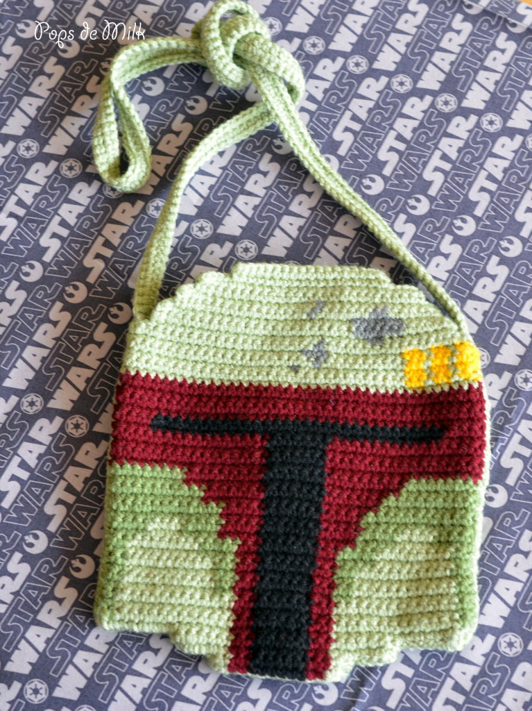 DIY Crocheted Boba Fett Helmet Bag