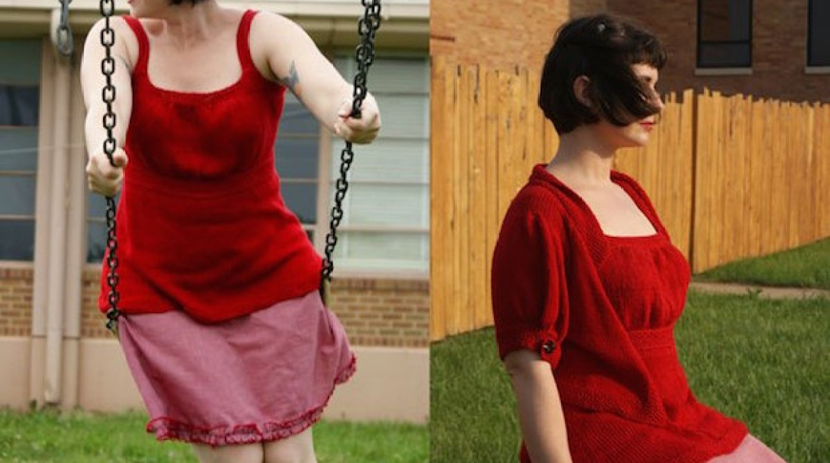 Flashback CRAFT Pattern: That Girl! Knitted Tank
