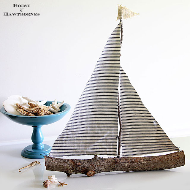 Simply Charming Sailboat Sculpture