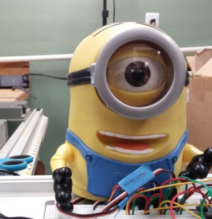 Stuart the Minion, under a hack.