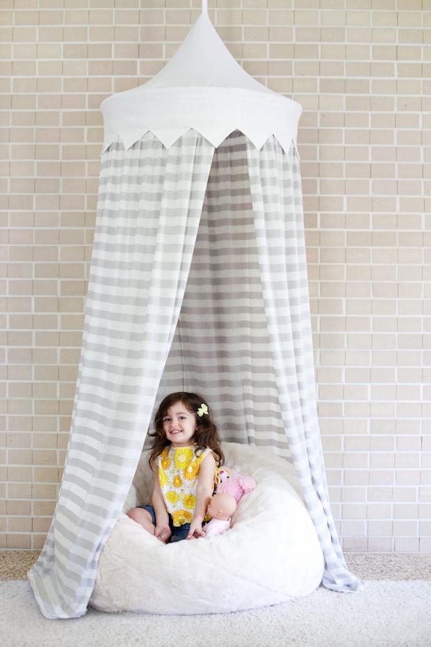 Sew Cute: Hula Hoop Tent Tutorial