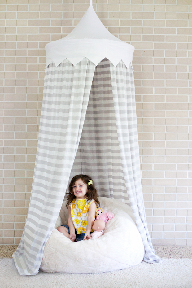 Sew Cute Hula Hoop Tent Tutorial  sc 1 st  Makezine & Sew Cute: Hula Hoop Tent Tutorial | Make: