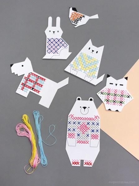 animal-cross-stitch-cards-for-kids