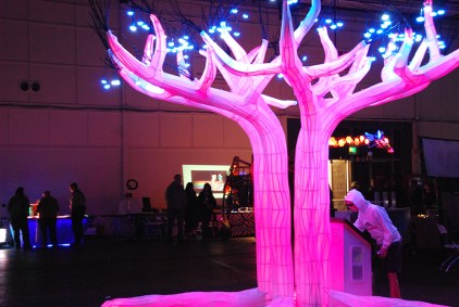 The magical Tree of Changes was the center piece of the Dark Room.