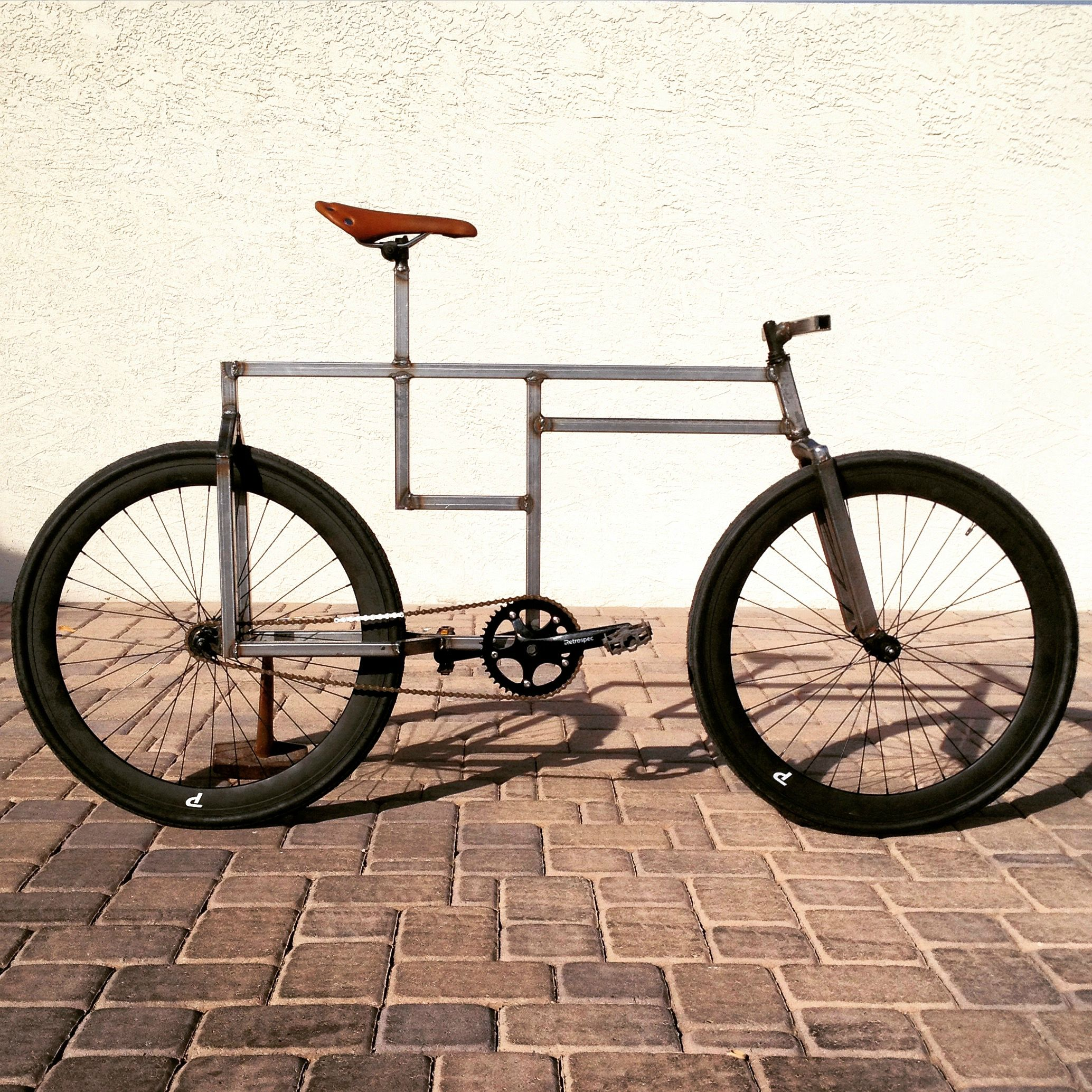 Check Out this Wacky Square-Framed Fixie Bike