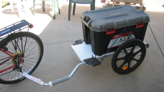 Lug Cargo with a Converted Children's Bike Trailer