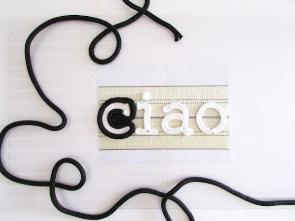 Say Hello: DIY Ciao Rope Door Mat
