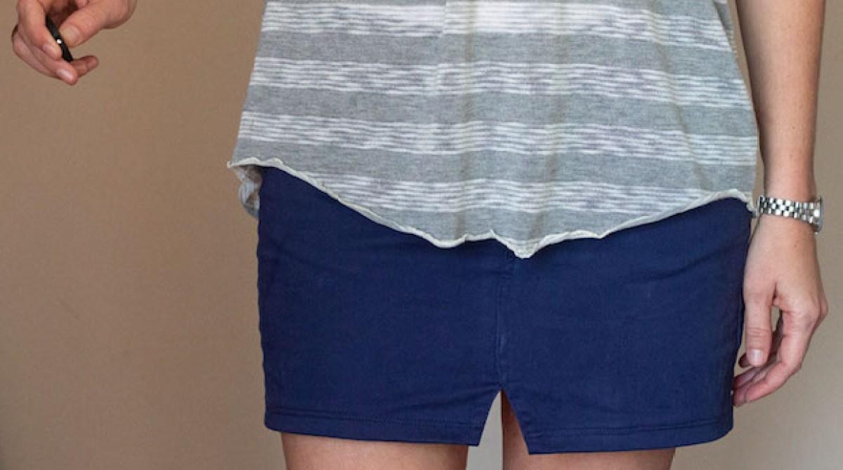 how to make a skirt into pants
