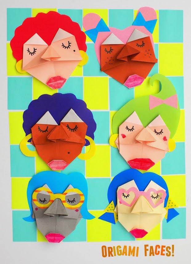 Kid Crafts: Origami Faces