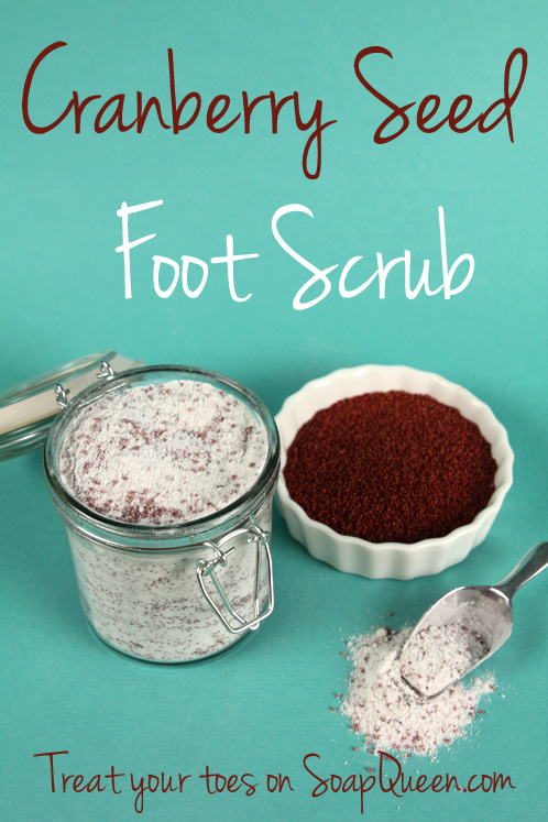 DIY Beauty: Cranberry Seed Foot Scrub