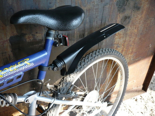 upcycled rear fender