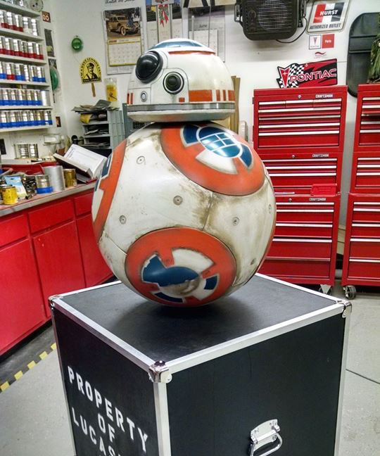 BB-8 on his Crate