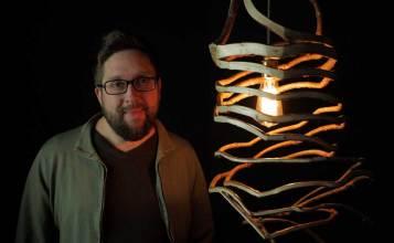 Gavin Munro and a Hexagon Pendant Lamp.