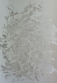 Flotsam (hand cut paper, 110x75cm)