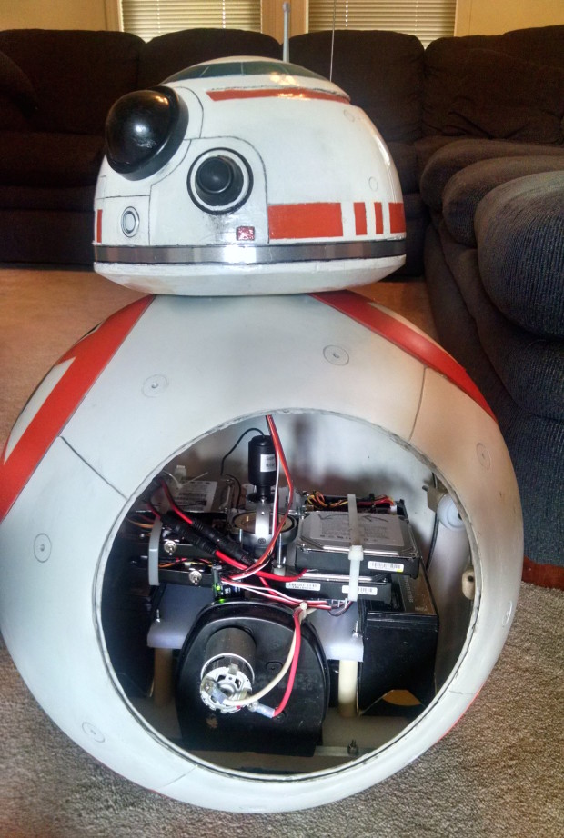 A peek inside BB-8.