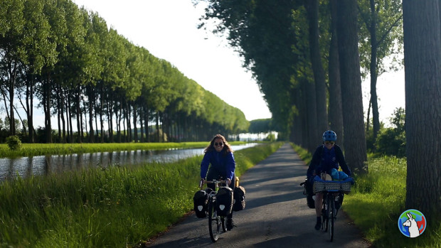 Madison and Miriam biked across the Netherlands.