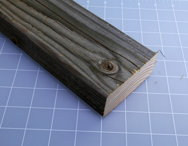 Figure D. A weathered chunk of 2x4 is the starting point for a green enclosure.