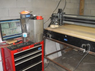 The project wouldn't have been possible without the CNC Router...