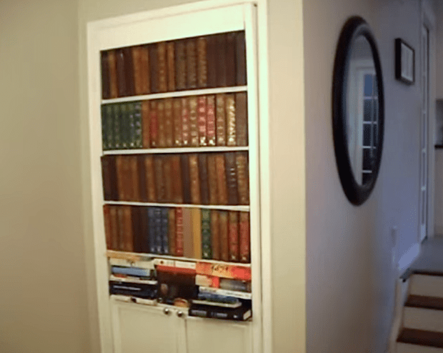 How to Build a Secret Faux Bookcase Door DIY by TVTara \u2014 via YouTube & 20 Secret Doors and Clever Hiding Places | Make: