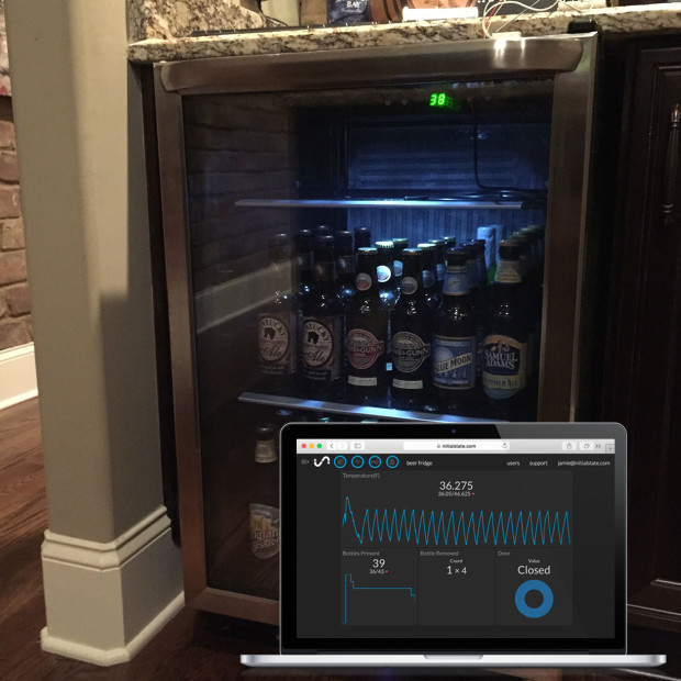 Monitor your beer fridge using a Raspberry Pi computer and a Wii balance board.