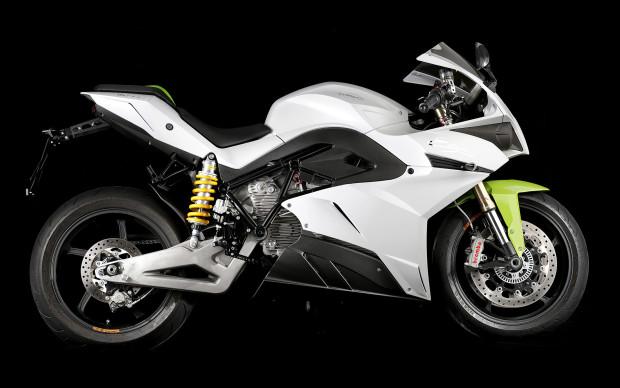 The Energica Ego electric-superbike